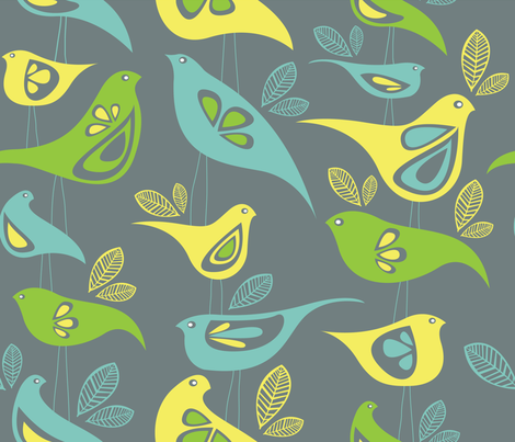 Fancy Birds fabric by sketchcreative on Spoonflower - custom fabric