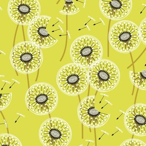 fanciful flight - make a dandelion wish! - spring green