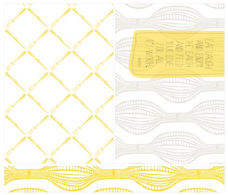 Placemats - Yellow/Gray fabric by tailorjane on Spoonflower - custom fabric