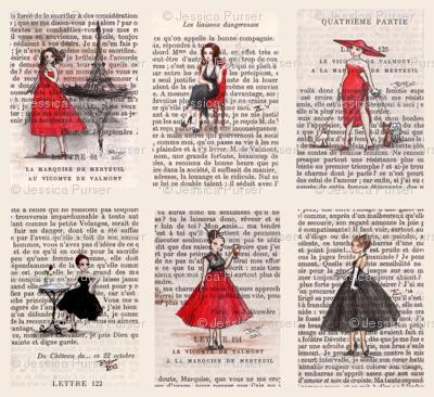 Paris Black & Red Vintage Ladies