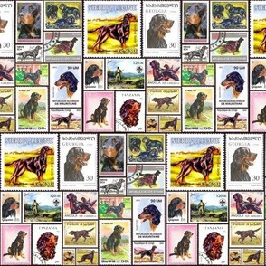 gordon_setter aligned stamps