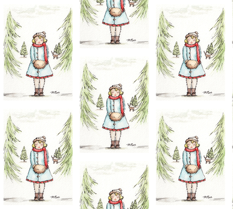 Christmas  fabric by castleonthehill on Spoonflower - custom fabric