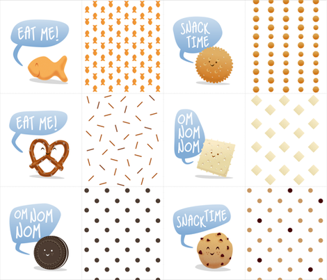 Happy Snacks fabric by elainethebrain on Spoonflower - custom fabric