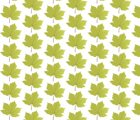 Leaf-sycamore fabric by terriaw on Spoonflower - custom fabric