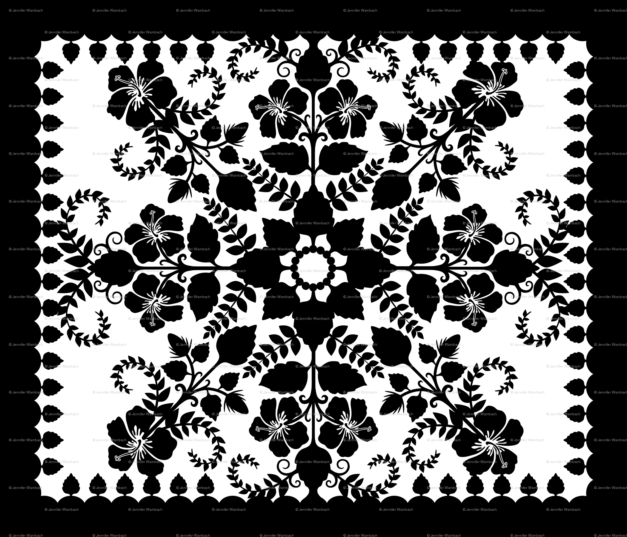 Akahai quilt black white wallpaper jennartdesigns spoonflower
