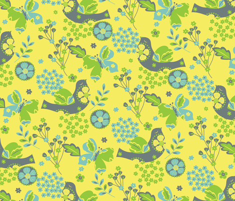 Flights of Fancy fabric by vicjdesign on Spoonflower - custom fabric