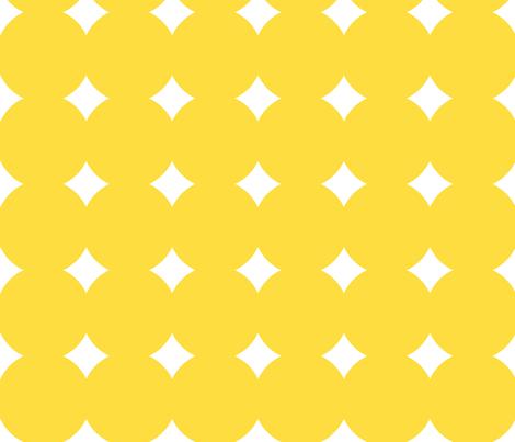 melting circles yellow fabric by blissdesignstudio on Spoonflower - custom fabric