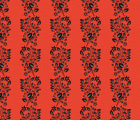 Orange Floral Pattern fabric by diane555 on Spoonflower - custom fabric