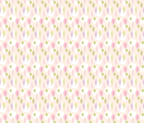 Pastel Floral Leaf Pattern fabric by diane555 on Spoonflower - custom fabric