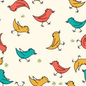 Retro Cartoon Birds