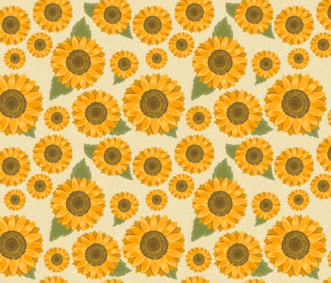 Sunflower Pattern fabric by diane555 on Spoonflower - custom fabric