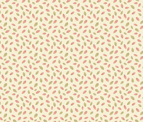 Windblown Weeds - Tiny Leaf Pattern fabric by diane555 on Spoonflower - custom fabric