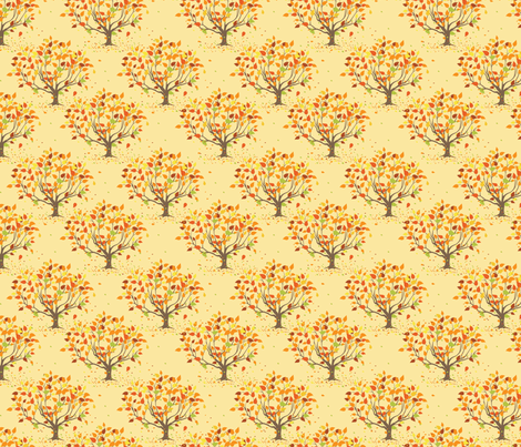 Autumn/Fall Trees fabric by diane555 on Spoonflower - custom fabric
