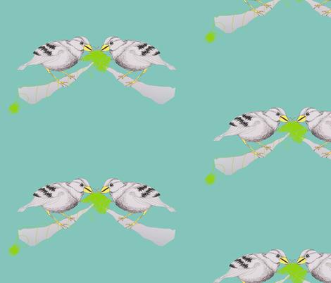 a birdie fabric by marimuc on Spoonflower - custom fabric