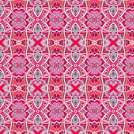 Fleur des Lis Times Scallop Equals Plaid fabric by edsel2084 on Spoonflower - custom fabric