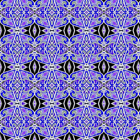 Fleur des Purple Heraldic Grape Juice Stars fabric by edsel2084 on Spoonflower - custom fabric
