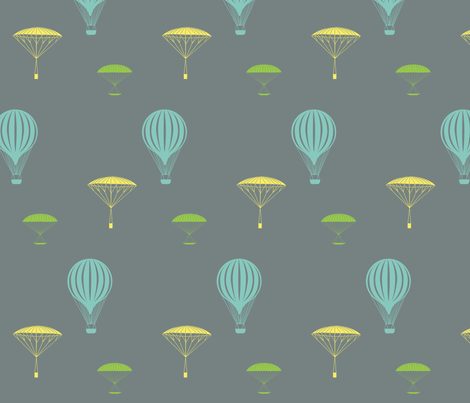 balloon launch fabric by svogey on Spoonflower - custom fabric