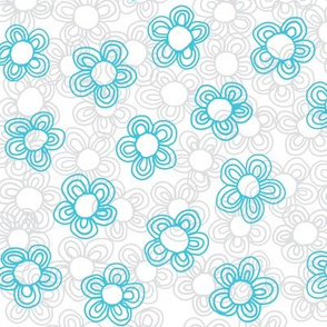 Wee Flowers, Turquoise
