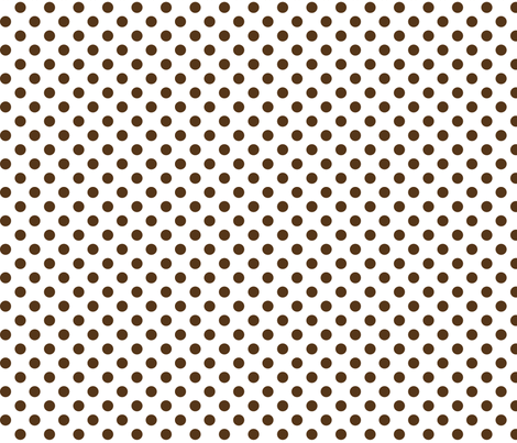 polka dots brown fabric by misstiina on Spoonflower - custom fabric