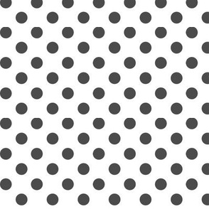 polka dots dark grey
