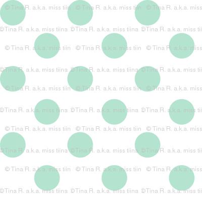 polka dots mint green