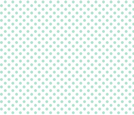 polka dots mint green fabric by misstiina on Spoonflower - custom fabric