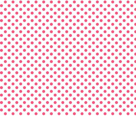 polka dots hot pink fabric by misstiina on Spoonflower - custom fabric