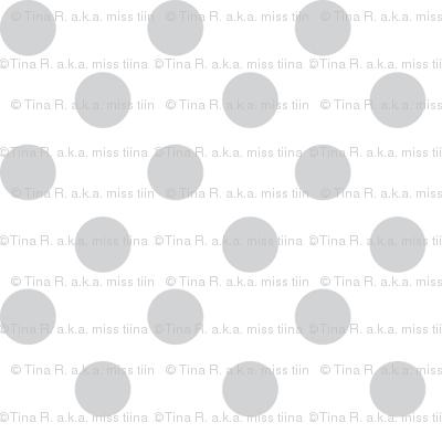 polka dots light grey