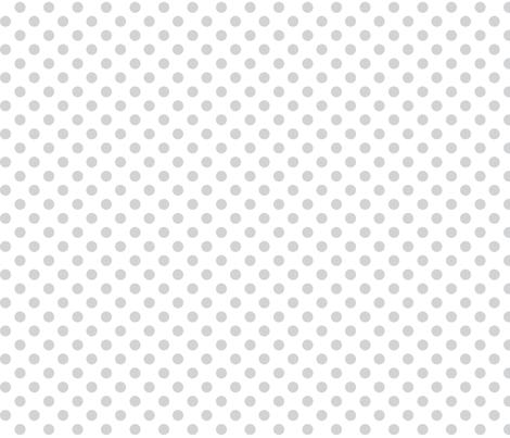 polka dots light grey fabric by misstiina on Spoonflower - custom fabric