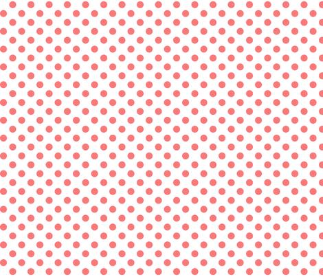 polka dots coral fabric by misstiina on Spoonflower - custom fabric