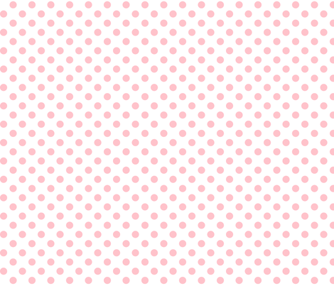 polka dots light pink fabric by misstiina on Spoonflower - custom fabric