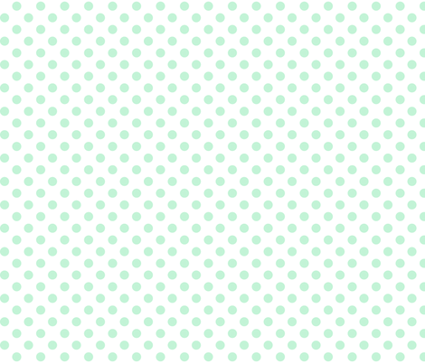 polka dots ice mint green fabric by misstiina on Spoonflower - custom fabric