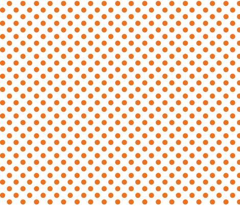 polka dots orange fabric by misstiina on Spoonflower - custom fabric
