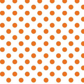 polka dots orange