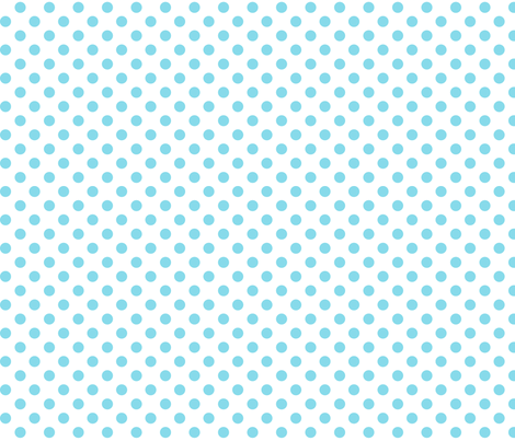 polka dots sky blue fabric by misstiina on Spoonflower - custom fabric