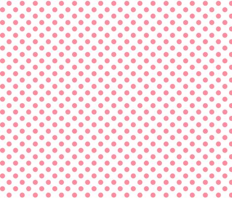 polka dots pretty pink fabric by misstiina on Spoonflower - custom fabric