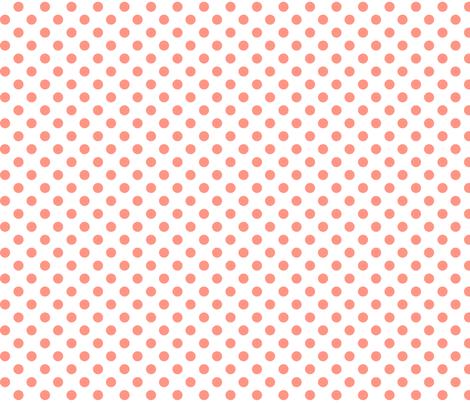 polka dots peach fabric by misstiina on Spoonflower - custom fabric