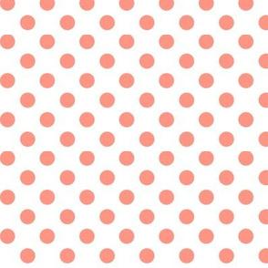 polka dots peach