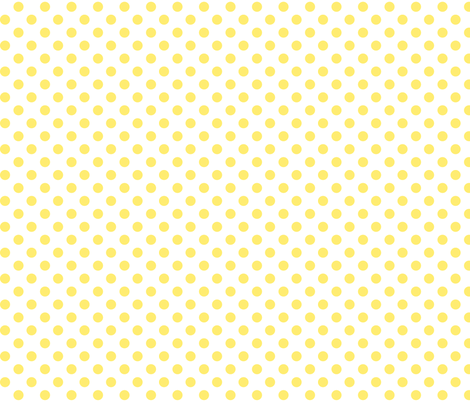 polka dots lemon yellow fabric by misstiina on Spoonflower - custom fabric