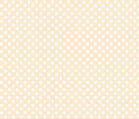 polka dots 2 ivory fabric by misstiina on Spoonflower - custom fabric
