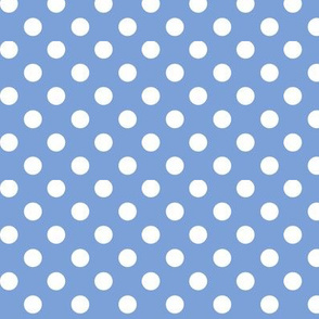 polka dots 2 cornflower blue