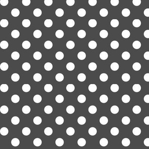 polka dots 2 dark grey