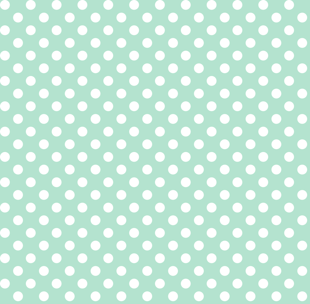 Polka Dots 2 Mint Green Wallpaper