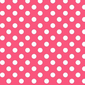 polka dots 2 hot pink