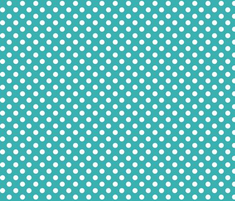 polka dots 2 teal fabric by misstiina on Spoonflower - custom fabric