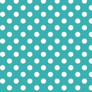 polka dots 2 teal