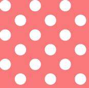 polka dots 2 coral