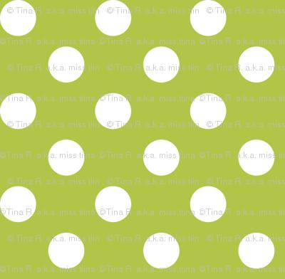 polka dots 2 lime green