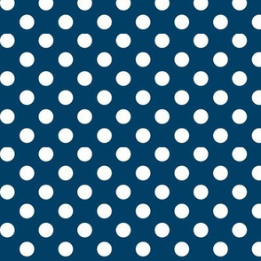 polka dots 2 navy blue