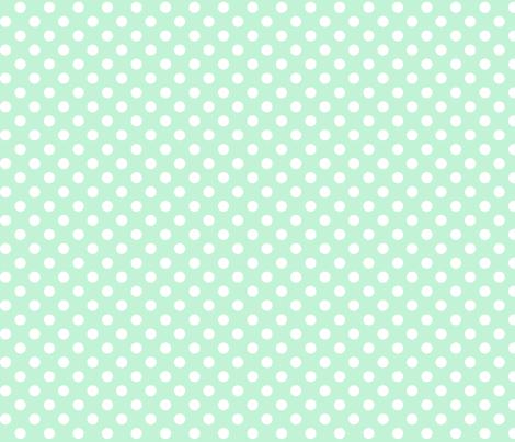polka dots 2 ice mint green fabric by misstiina on Spoonflower - custom fabric
